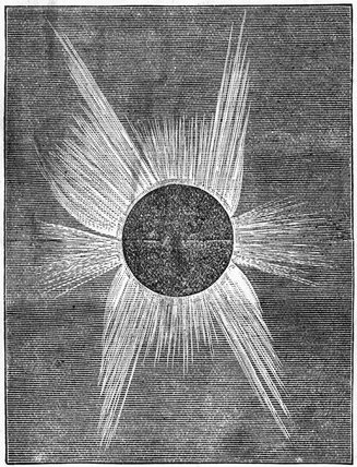 Solar eclipse, 1874.