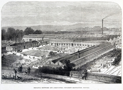 'Britannia Ironworks and Agricultural Implement Manufactory, Bedford', 1874.