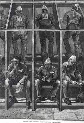Prison treadwheel, 1874.