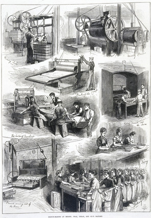 Biscuit making at Peak, Frean & Co., 1874.