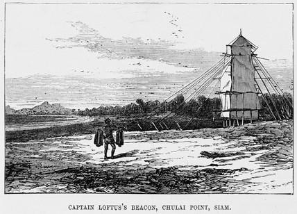 'Captain Loftus' Beacon, Chulai Point, Siam', 1874.