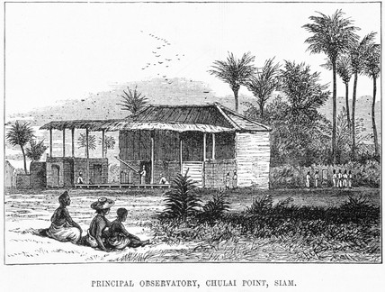 'Principal Observatory, Chulai Point, Siam', 1874.