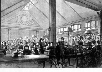 'The Central Telegraph Office: Instrument Gallery', 1874.