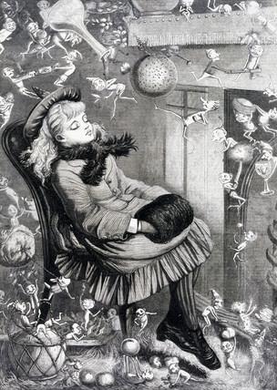 A Christmas Dream, c 1870s.