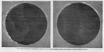 The eclipse of the sun, 1860.