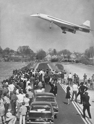 Concorde's maiden flight, Fairford.