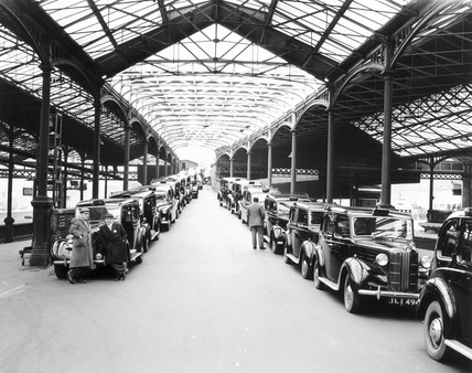 Euston Station taxi rank at platforms two a