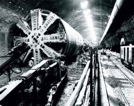 Boring Machine, Channel Tunnel, September 1990.