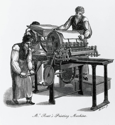 Rutt's printing pres, 1825.