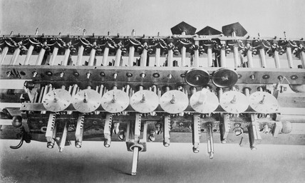Leibniz calculating machine, 1694.
