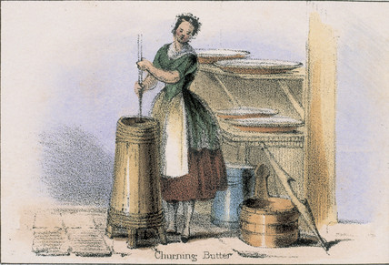 'Churning Butter', c 1845.