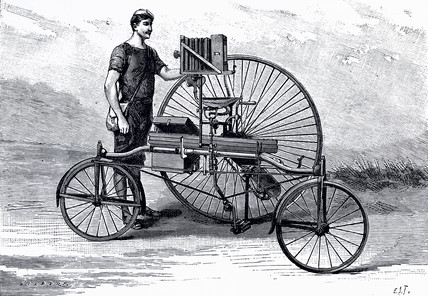 Photographic tricycle, c 1888.
