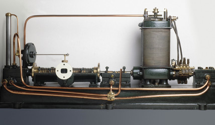 Parsons' steam turbine-generator, 1884.