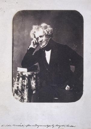 John Herschel, English astronomer and scientist, c 1855.