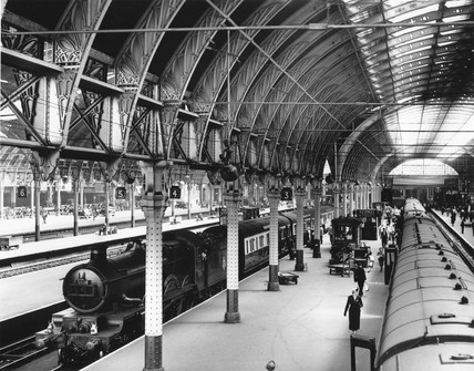 Paddington Station, London, 1952.