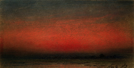 Afterglow caused by the eruption of Krakatoa, 9 November 1883.
