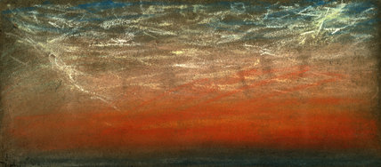 Sunset and afterglow, Chelsea, London, 12 July 1886.