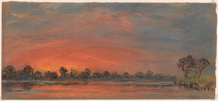 Sunset at Chelsea, London, 14 July 1886.