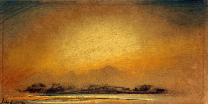 Afterglow with crepuscular rays, 13 September 1885.