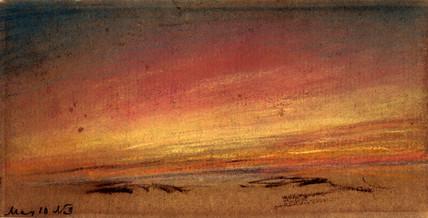 Rose flush following sunset, 10 May 1884.