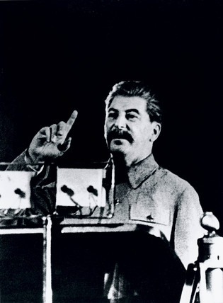 Joseph Stalin, Soviet leader, addresing voters, 16 December 1937.