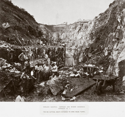 Construction of Dove Holes Tunnel, Derbyshire, 1860-1865.