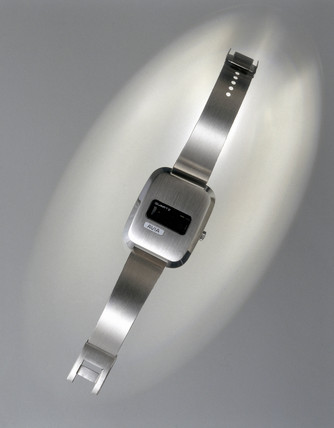 Avia quartz digital watch, c 1972.