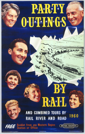 'Party Outings by Rail', BR (WR), 1960.