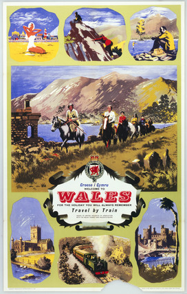 'Welcome to Wales - Croeso i Gymru', BR (WR) poster, 1960.