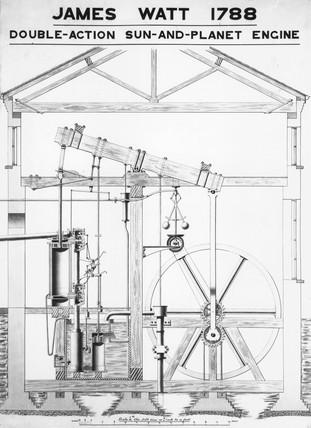 Boulton and Watt's 'Sun and Planet' engine, 1797.
