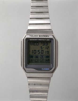 Casio digital watch, model VDB-200B-1, 1997.