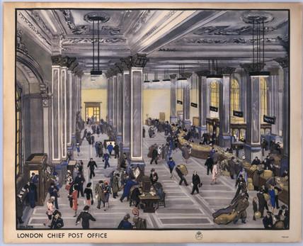 'London Chief Post Office', c 1950.