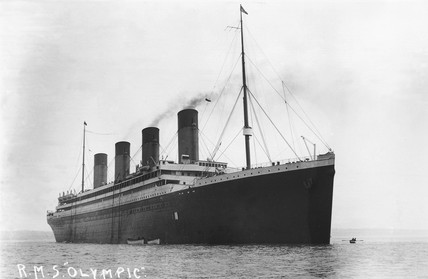 RMS 'Olympic', c 1910.