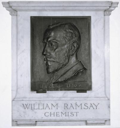 Sir William Ramsay, Scottish chemist , c 1910.