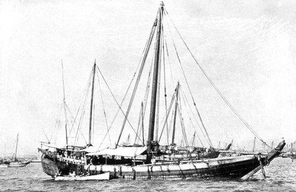 'Baghla 'Fathel Raymon' of Bunder Abbas, 311 Tons, Crew of 48', 1909.