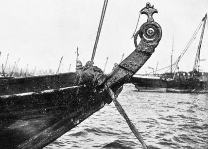 'Stem Ornament of Gunjo Built at Sur', 1909.