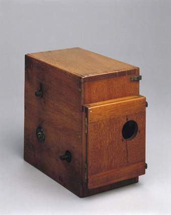 Earliest type Prestwich camera, 1896.