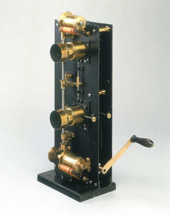 Friese Greene and Prestwich projector, 1896.
