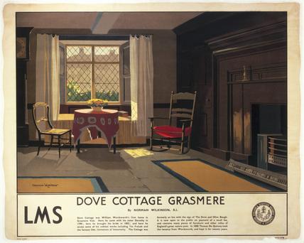 Dove Cottage, Grasmere, LMS poster, c 1920.