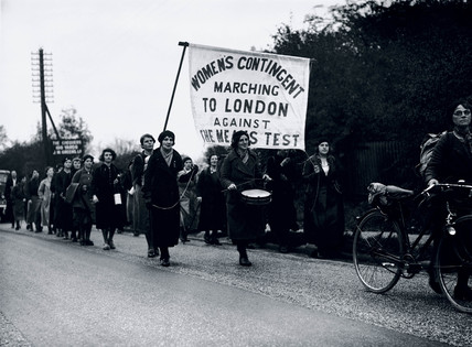 Women marchers protesting against the new means test, 4 November 1936.