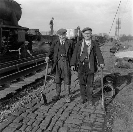 Railway workers, c 1950s.
