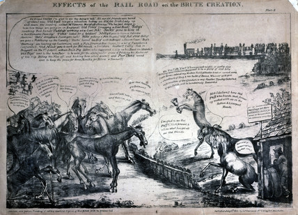 'Effects of the Rail Road on the Brute Creation', 1831.