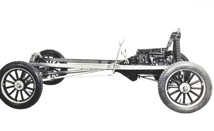 Model T Ford motor car chasis, 1925.