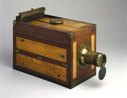 Chevalier 'Le Grand Photographe' folding camera, c 1840.
