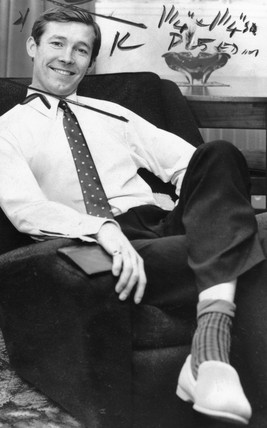 Alex Ferguson, Falkirk FC footballer, November 1969.