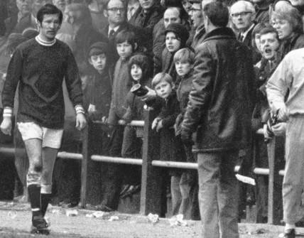 Alex Ferguson, Falkirk FC footballer, February 1972.