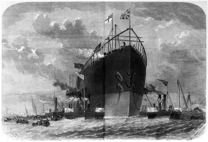 'Great Eastern' , 1858.