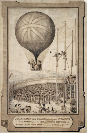 'Mr Lunardi's New Balloon', 29 June 1785.