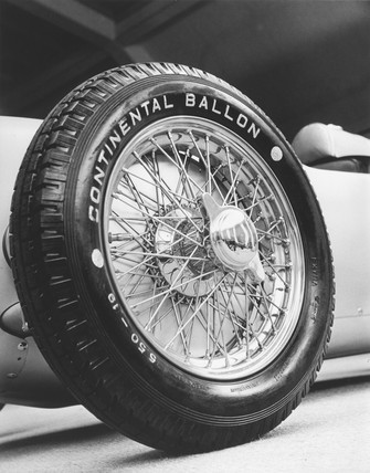 European Auto Racing Photographer on Glas  Zoltan    Front Wheel Of A 1911 Auto Union Racing Car  C 1934