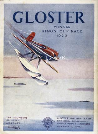 Schneider Trophy contest programme, September 1929.